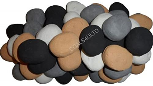 Coals 4 You 20 Gas fire Replacement Ceramic Pebbles 4 Colours In Branded Coals 4 U Packing
