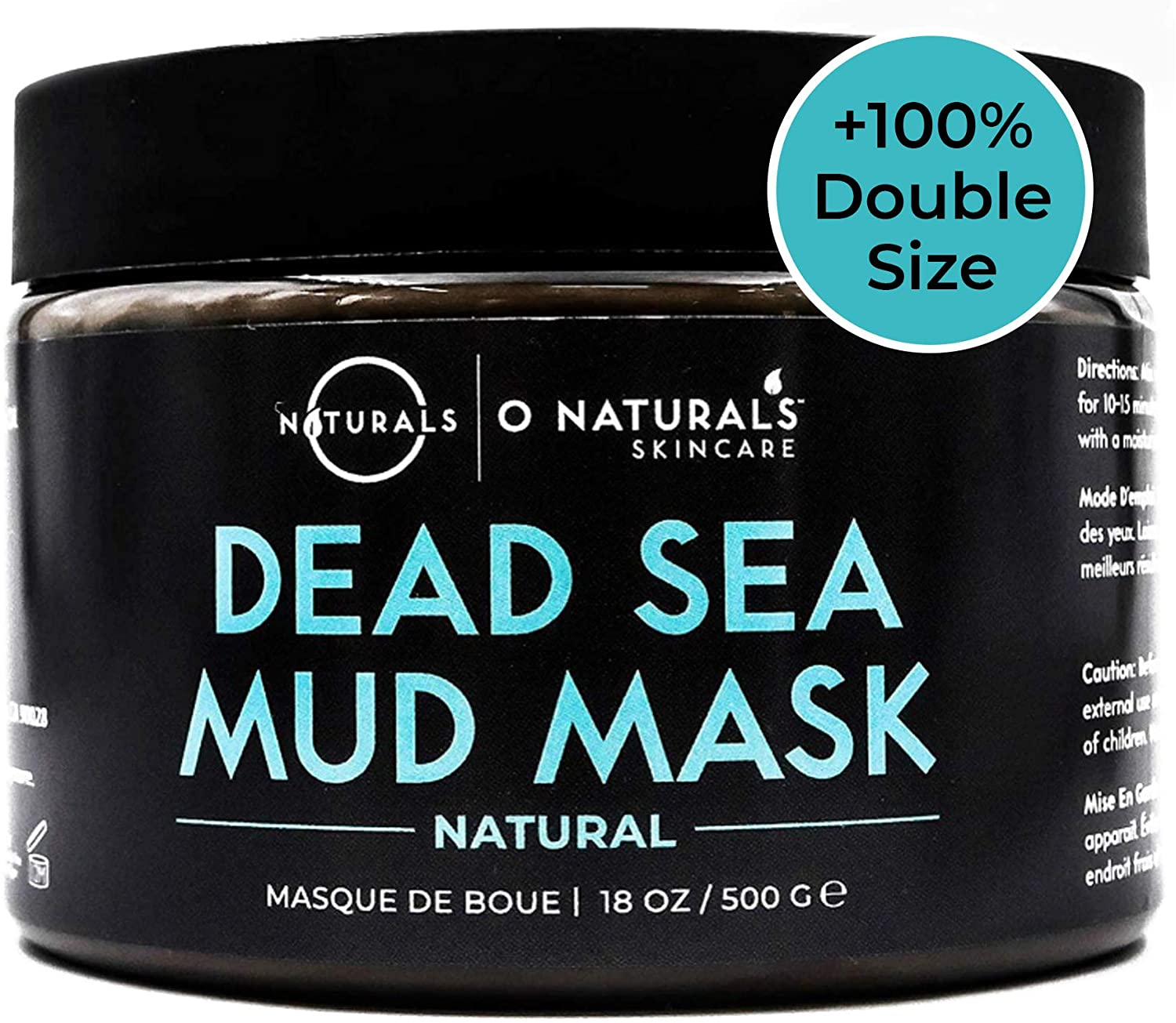 Dead Sea Mud Mask for Face & Body. Best Acne Treatment Organic Deep Pore Minimizer Face Mask & Cleansing Pore Vacuum for Oily Skin Blackhead Remover Healing Exfoliating Skin Care for Men & Women 500gr