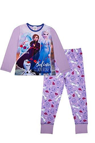 Disney Girls Frozen Pyjamas Anna Elsa Olaf Girls Pjs Ages 3 to 12 Years Old (4-5 Years) Lilac