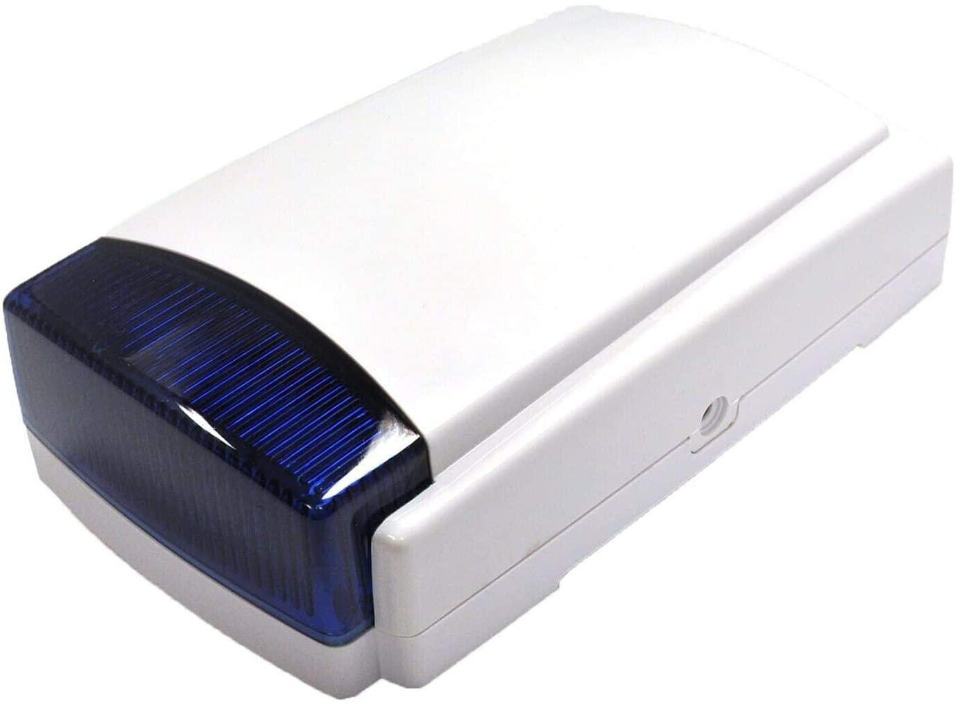 Dummy Alarm Box Blue or White Strobe Flashing LEDs with Blue Lens Long Lasting