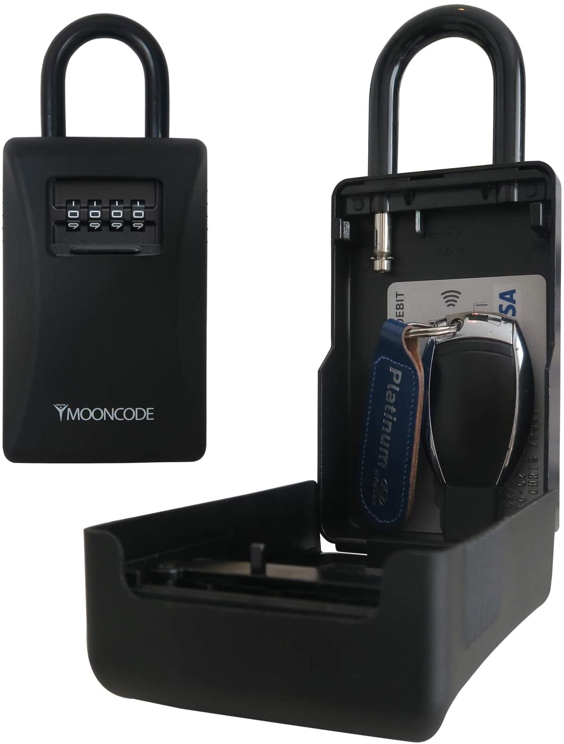 Frostfire Mooncode - Portable Key Storage Security Lock with Weather Protective Case