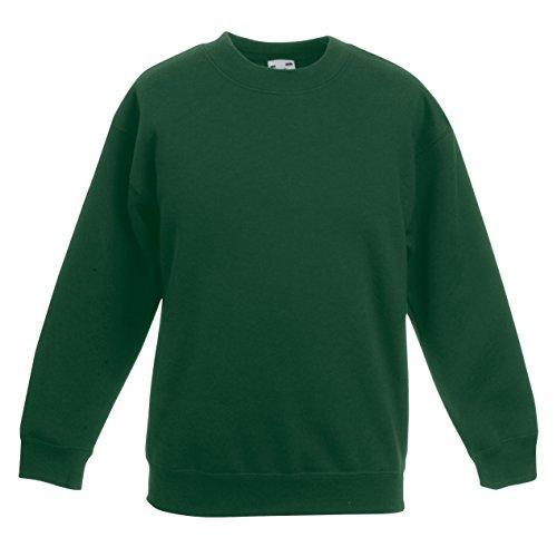 Fruit of the Loom Kids Classic Set-in Sweatshirt Jumper SS201 (3/4 Years, Bottle Green)
