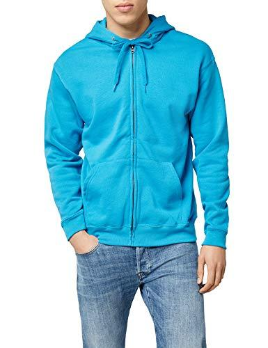 Fruit of the Loom Men's Zip front Classic Hooded Jacket,Blue (Azure),Manufacturer Size:Small