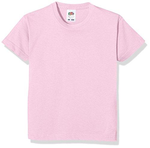 Fruit of the Loom Unisex Kids Valueweight Short Sleeve T-Shirt, Pink, 1-2 Years (Manufacturer Size:20)
