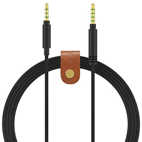 Geekria Audio Cable for ASTRO Gaming A10, A30, A40, Gaming Headset Replacement Cable / 5 Steps to 4 Steps, Headphones Audio Replacement Cord (3.5 Male to 3.5 Male, Black)