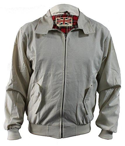 Harrington Jacket Classic/Retro/Mod/Scooter by SKYTEXUK, 10 Colours, Sizes XS - 5XL (XS, Beige)