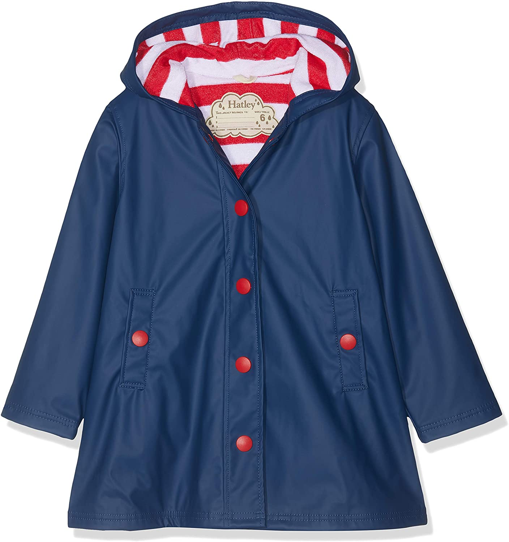 Hatley Girl's Splash Jacket, Blue (Navy/Red), 2 Years