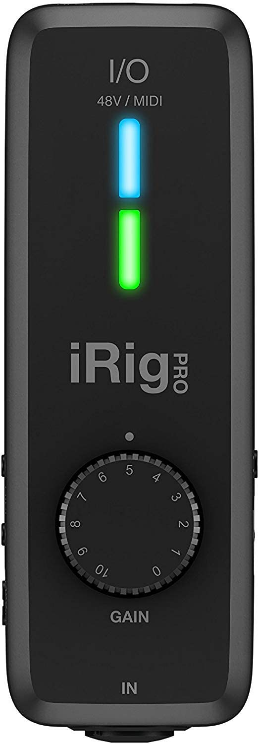 IK Multimedia iRig Pro I/O - Fully Equipped Pocket Audio, MIDI Interface, Recording Studio Quality Sound, 24 bits/96 kHz, Additional Essential Functions for Mobile Recording