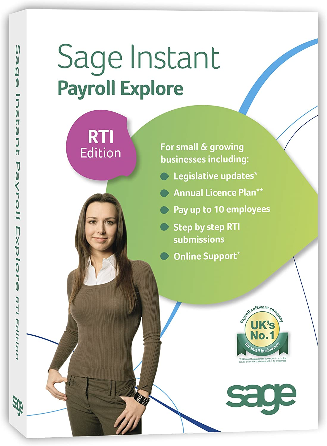 Instant Payroll Explore - 10 employees: RTI Edition (PC)