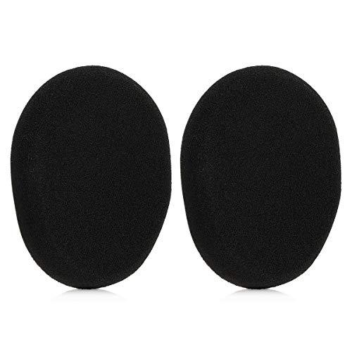 kwmobile 2x Earpad Compatible with Logitech H800 - Replacement Foam Earpad Cushions for Headphones - Black