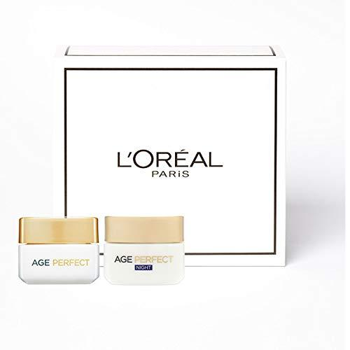 L'Oreal Paris Age Perfect Skincare Set, Day and Night Regime for Mature Skin