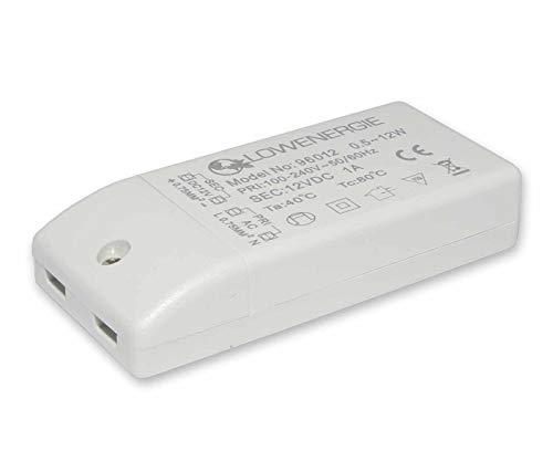 LED Driver Power Supply Transformer, 12w 240V - DC 12V, MR16 and MR11 by Lowenergie