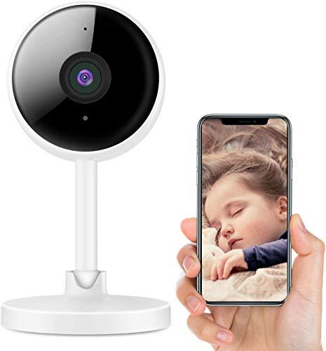 Littlelf Wifi Camera Indoor, 1080P Baby Monitor, Home Security Camera with Motion Detection, Reverse Call, 2-Way Talk, Night Vision, Wireless Surveillance Camera for Baby, Elder, Pet, Works with Alexa