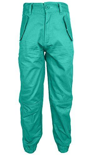 Location Boys Chino Pant Jeans Cuffed Chinos Coloured Combat Trousers Kids W17