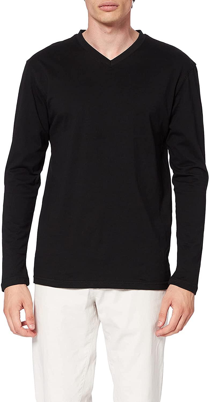 Lower East Long Sleeve V-Neck Shirt, Pack of 5, black, S