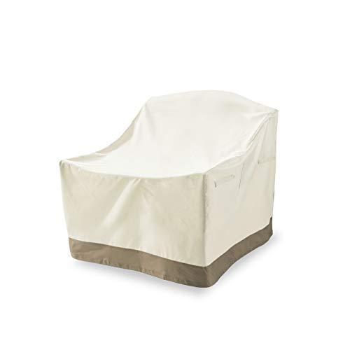 Lumaland Garden Furniture Cover for for Garden Chairs 64 x 79 x 102 cm Rectangular Waterproof Winterproof Weathrproof 600D Oxford Fabric 280 g/m² in Beige