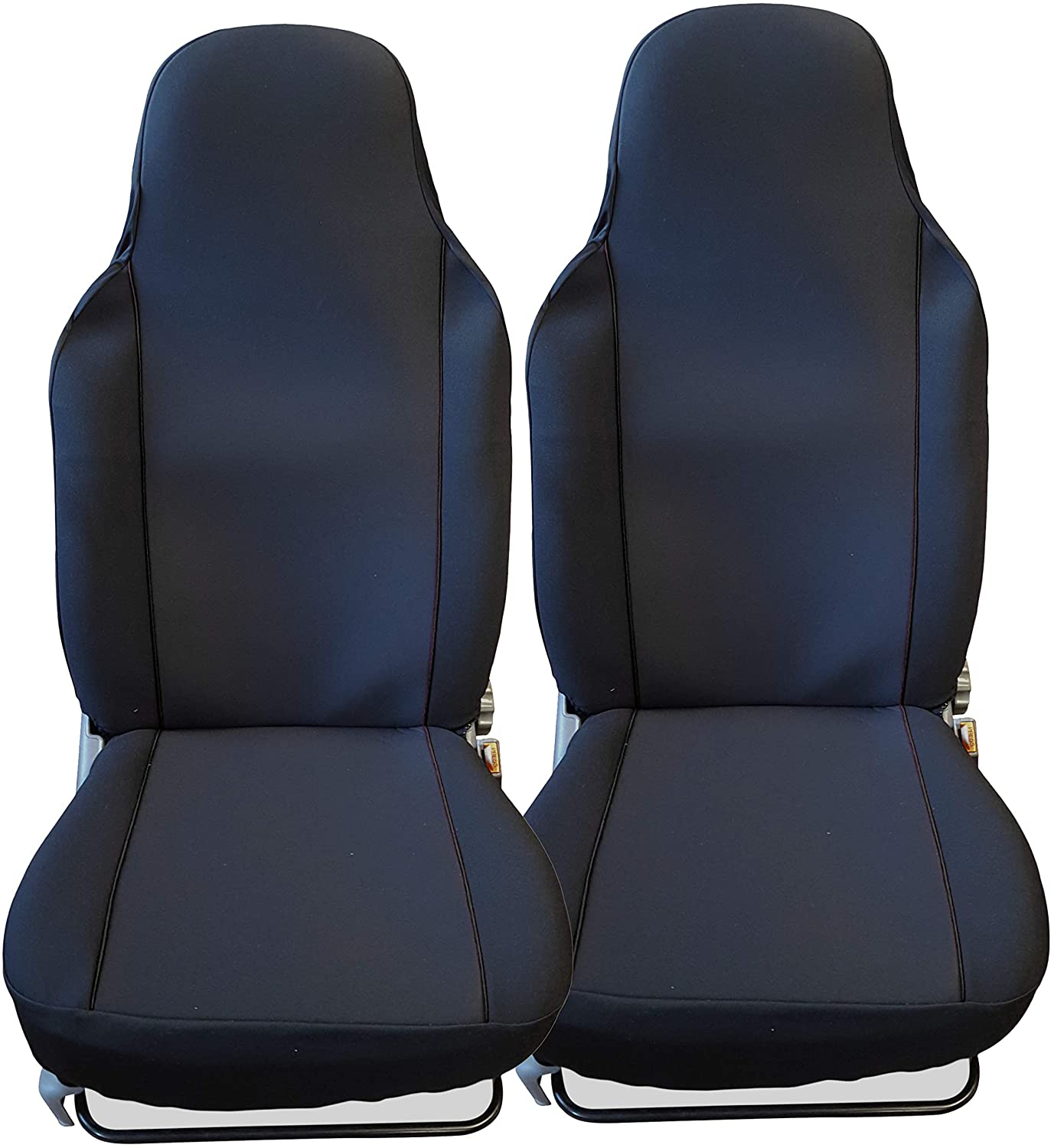 Luxury BLACK CAR SEAT COVERS PROTECTORS- 2 x Fronts
