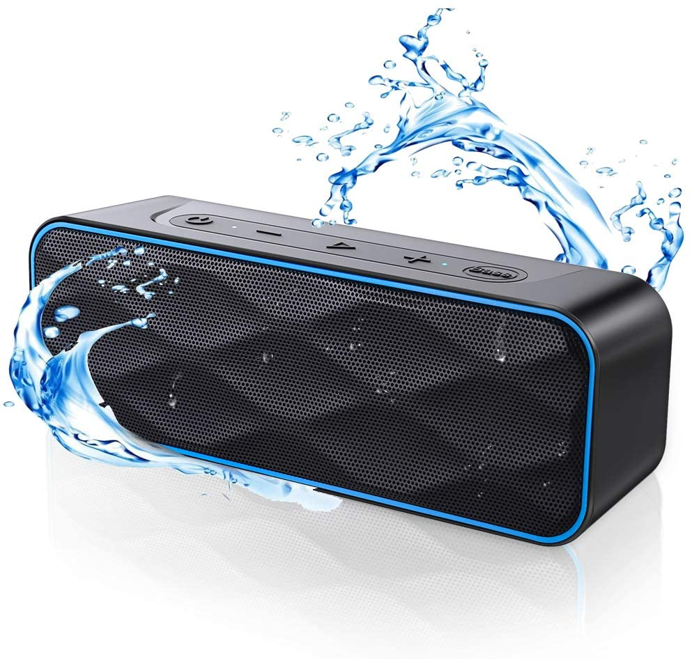 MIROCOO Bluetooth Speaker S1Pro, 20W Loud Stereo Sound & Deep Bass, 36-Hour Playtime, IPX7 Waterproof Speaker, Portable Wireless Speakers with Built-in Mic for Outdoors, Home, Party, Travel