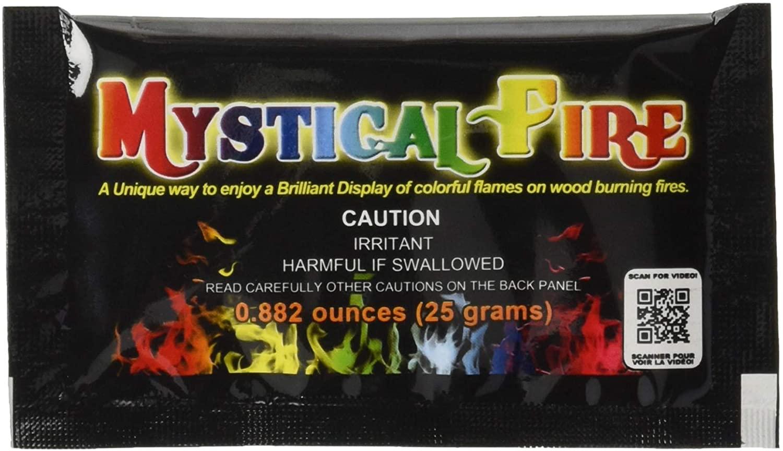 Mystical Fire 99828 Flame Colorant 25-Pouch Box, Multi-Colour, 10.8x5.7x0.6 cm