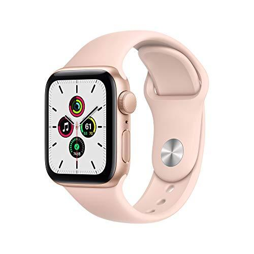 New Apple Watch SE (GPS, 40mm) - Gold Aluminium Case with Pink Sand Sport Band
