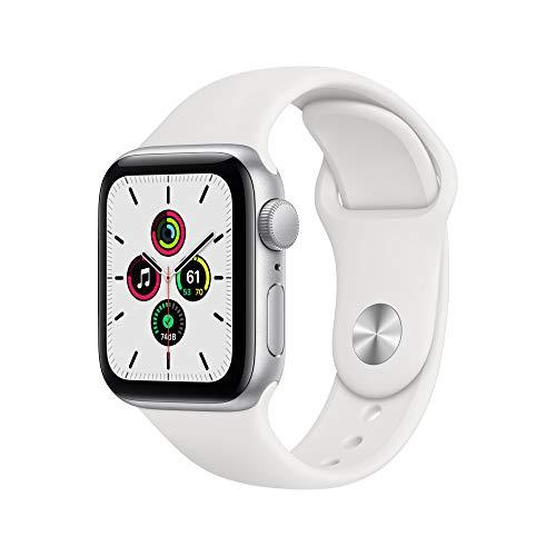 New Apple Watch SE (GPS, 40mm) - Silver Aluminium Case with White Sport Band