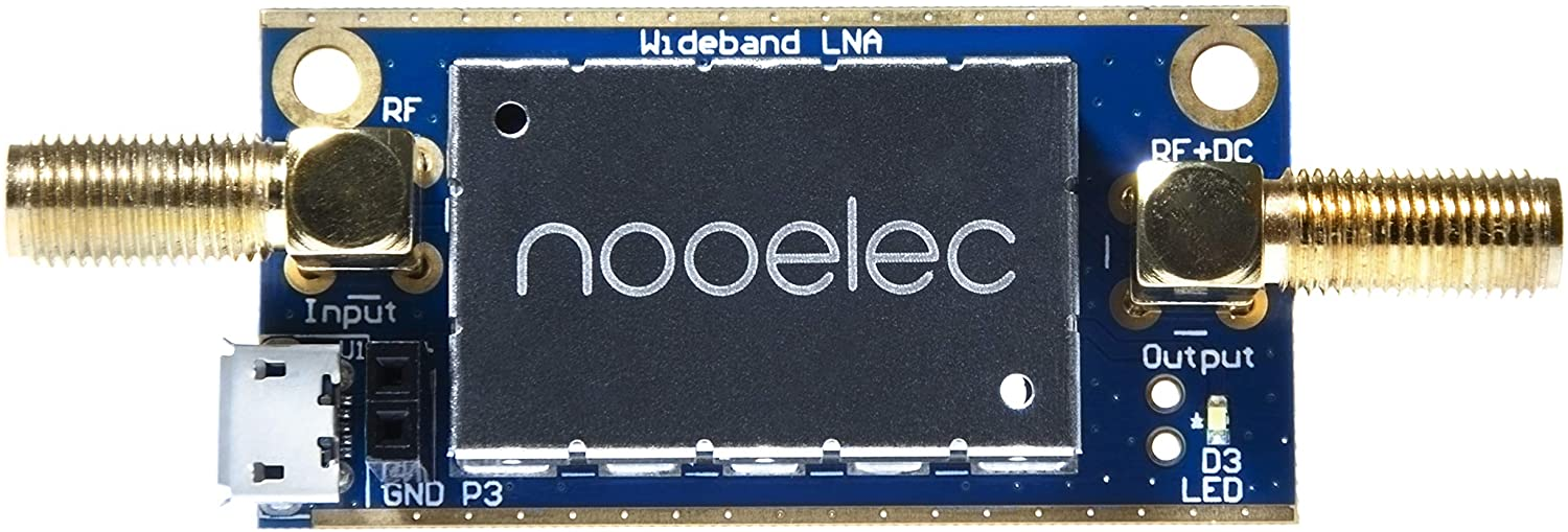 NooElec LaNA Barebones - Ultra Low-Noise Amplifier (LNA) Module for RF & Software Defined Radio (SDR). Wideband and Linear 20MHz-4000MHz Frequency Capability with Bias Tee & USB Power Options