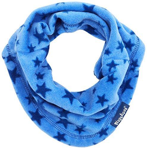 Playshoes Girl's Fleece-Schlauchschal Sterne Scarf, Blue (Blau 7), One size