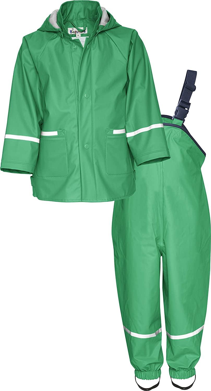 Playshoes Girls' Regen Rainsuit, Set Basic rain Jacket, Green, 6-9 Months