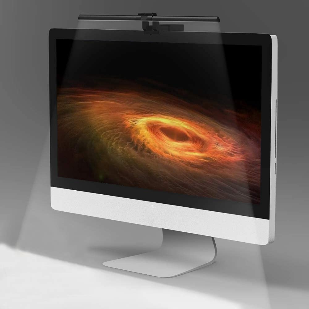 Quntis e-Reading LED Lamp SCREEN GLARE FREE, USB Powered Computer Monitor Lamp for Eyes Care, Office Desktop Lamp with Adjustable Brightness and Color Temperature