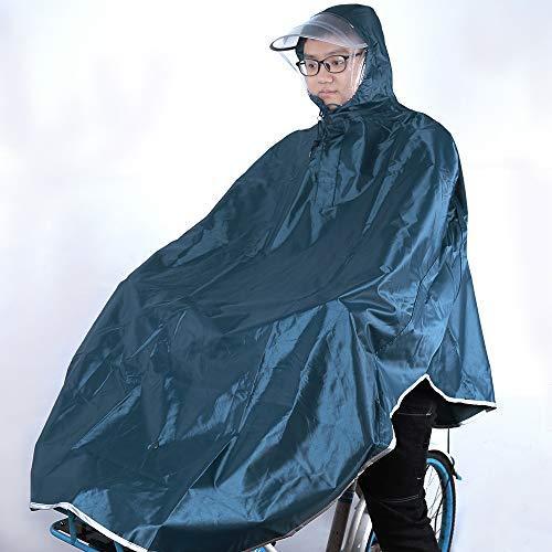sorliva Windproof Hooded Cycling Bike Bicycle Raincoat Poncho 1 Pack (Navy)