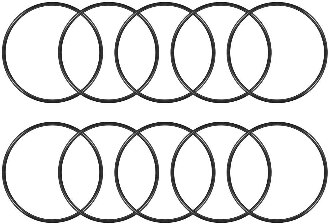 sourcingmap O-Rings Nitrile Rubber, 130mm Inner Diameter, 140mm OD, 5mm Width, Round Seal Gasket(Pack of 10)