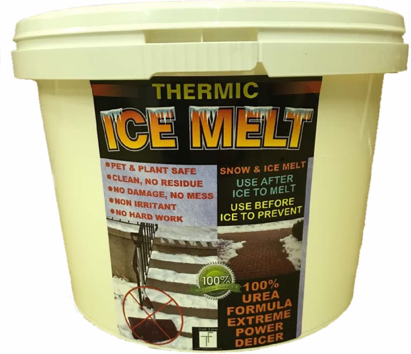 THERMIC Snow and ICE MELT- Child and Pet Safe - Eco-Friendly Powerful and Magic Ice Melt. Non Corrosive. Non Salt. No Mess, No Residue, No Damage, No Fuss. Thermic Ice Melter for Home and Business.
