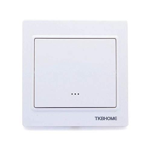 TKB TZ56-S Home Wall Switch with Single Paddle, Cornered Frame, 230 V, White