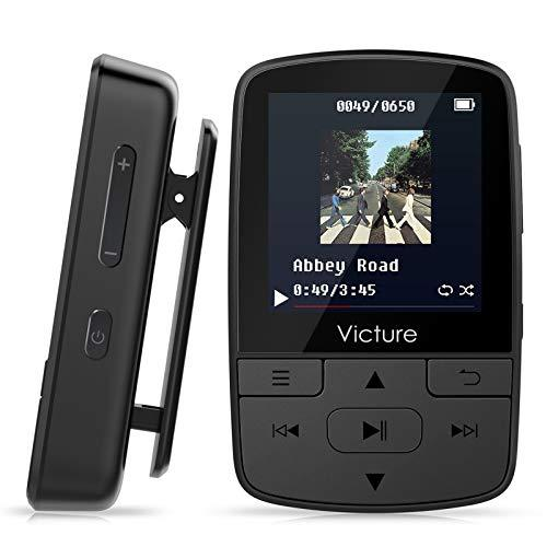 Victure Bluetooth MP3 Player 8GB Clip Sport Portable Lossless Sound Hi-Fi Music Player With Headphone FM Radio Voice Recorder, Support up 128GB