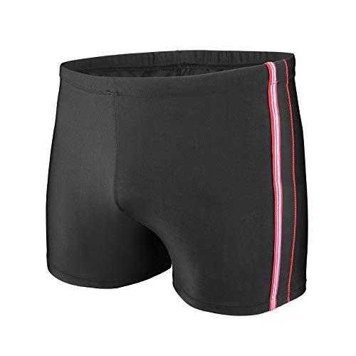 WHCREAT Mens Swimming Trunks Sports Swimwear Beach Board Shorts Chlorine Resistant, Red, S