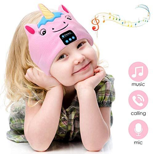 WU-MINGLU Wireless Kids Headphones,Bluetooth Headband Sleep Headphones Comfy Music Headband Noise Cancelling & Volume Limited Perfect for Children