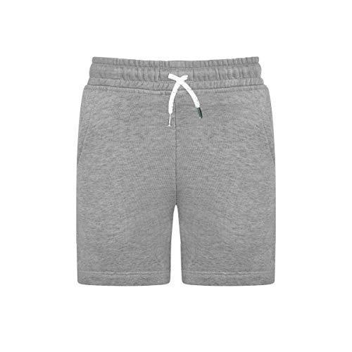 XXR Boys Kids Junior Shorts Cotton Fleece PE School Summer Running Sports Shorts (Grey, 3Y)