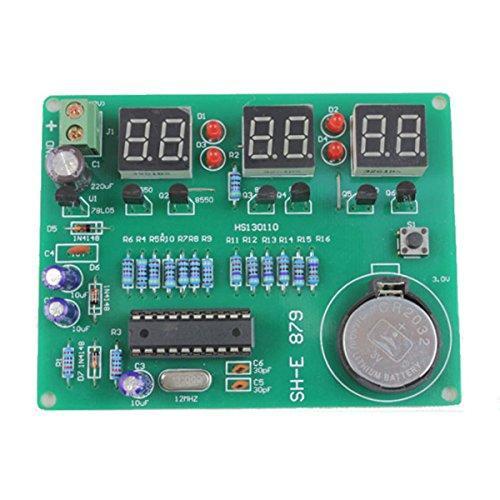Youmile DIY Kit Module 9V-12V AT89C2051 6 Digital LED Electronic Clock Parts Components