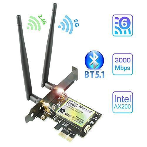 Ziyituod AC 1200Mbps PCIe WiFi Bluetooth Card - Intel Wireless ac-7265 - Bluetooth 4.2 - Up to 867Mbps - 2.4/5 GHz PCI Wireless Network Card for Desktop PC - Windows 10/8.1/8/7 32,64bit(ZYT-7265)
