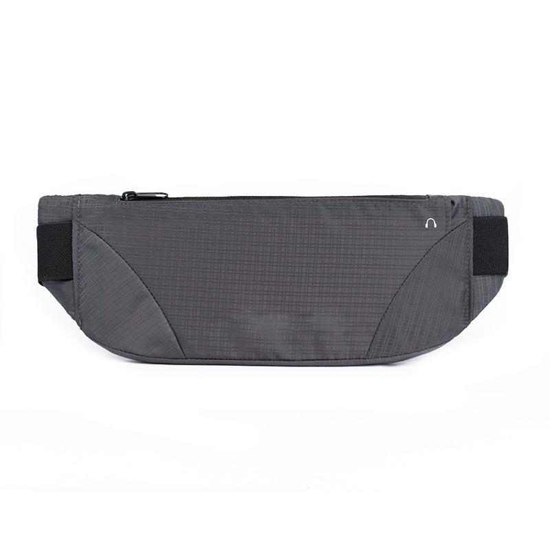 SPORX Waterproof Running Belt Zip Waist Pouch Charcoal