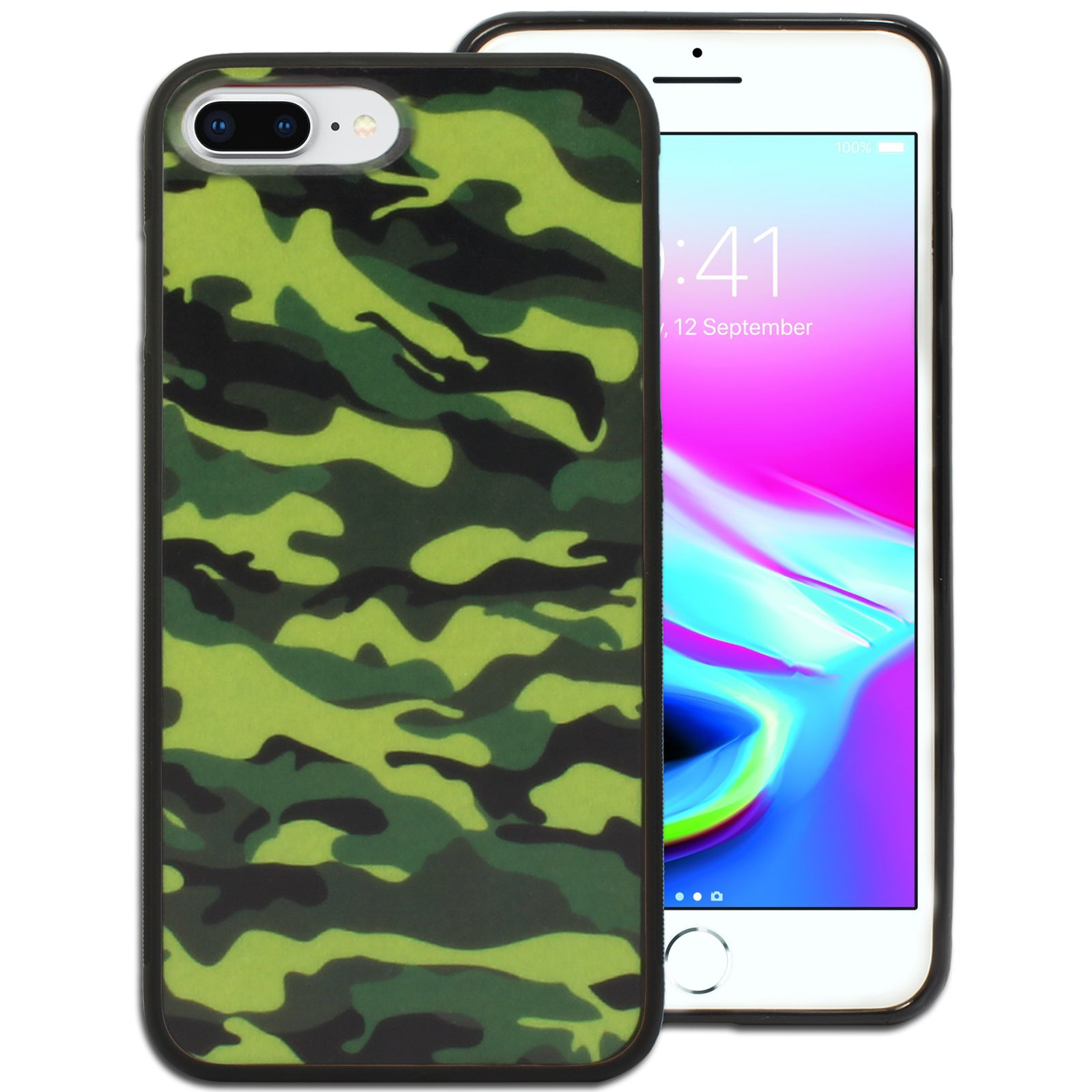 """Army Camouflage Printed Hard Back Case for Apple iPhone 7 Plus or 8 Plus (5.5"""")"""