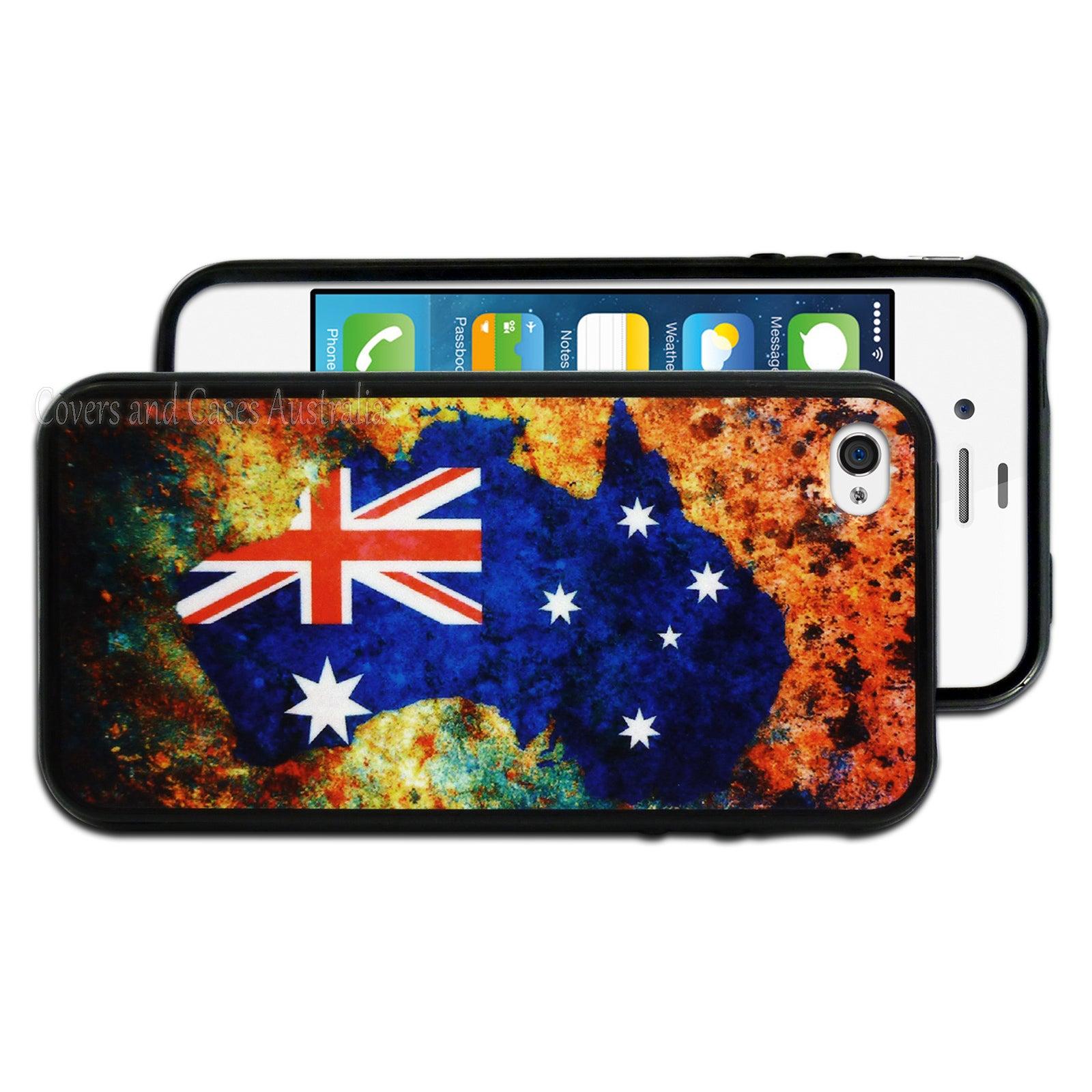 Australia Flag Printed Map Hard Back Case for Apple iPhone 4 4S