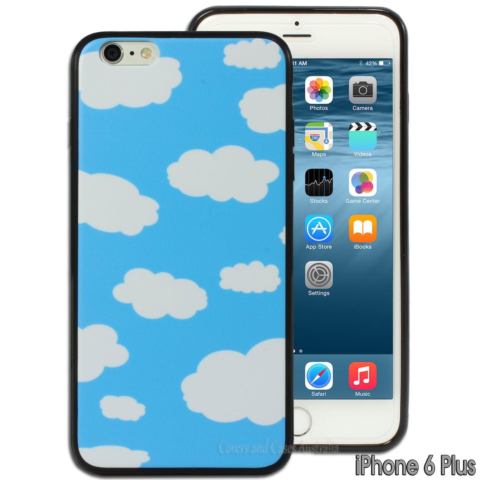 Blue Cloud Sky Printed Hard Back Case for Apple iPhone 6 Plus 6S Plus