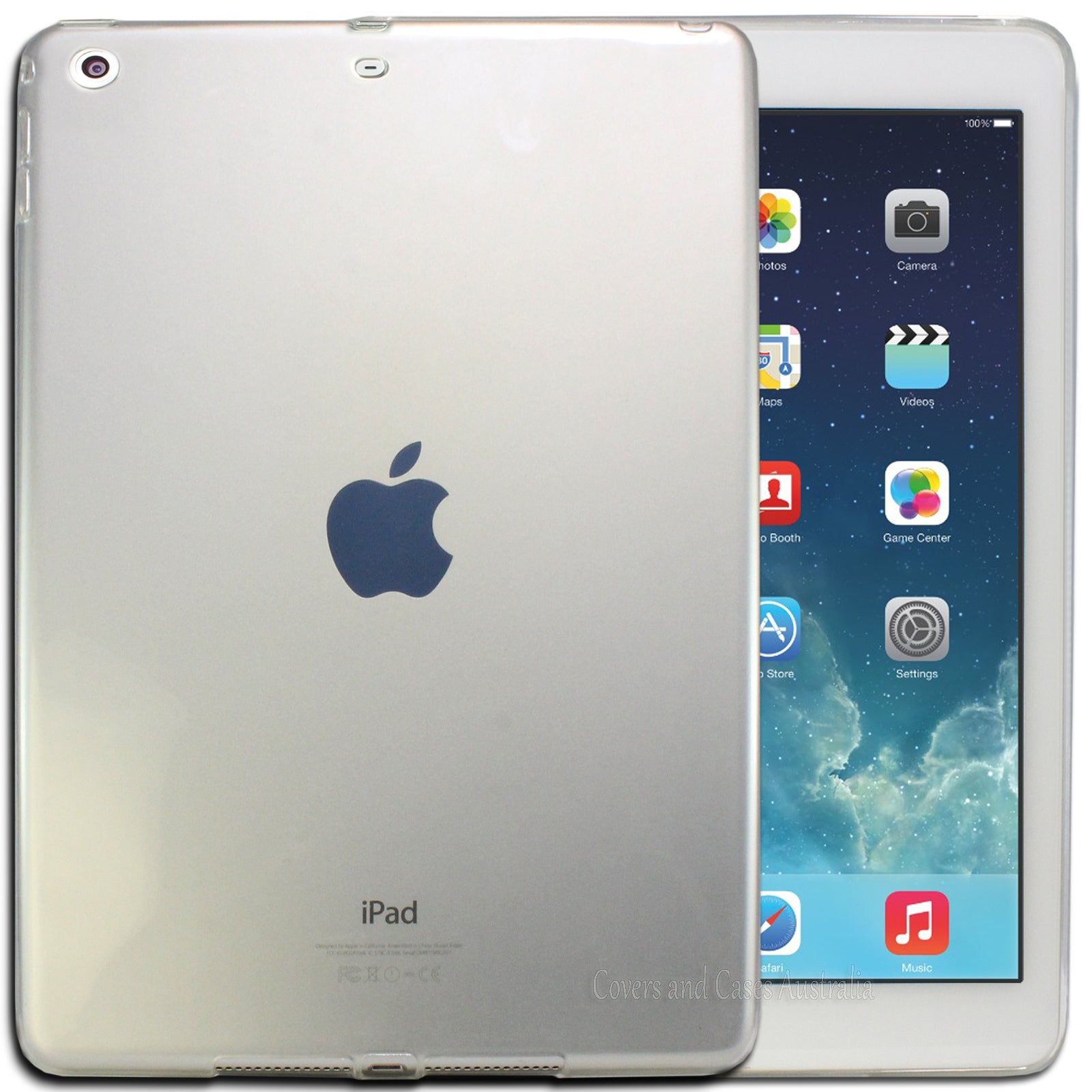 Clear Flexible Soft TPU Gel Case for Apple iPad Air 1