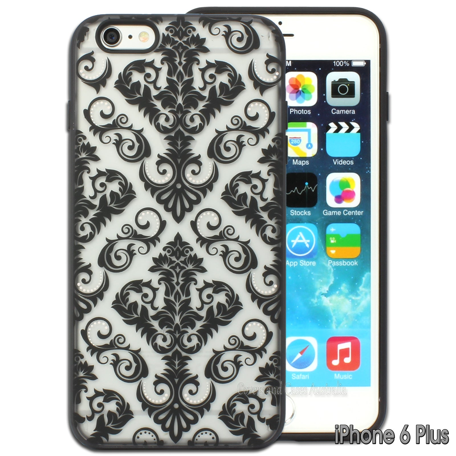 """Damask Pattern Back Cover for Apple iPhone 6 Plus 6S Plus Case 5.5"""""""