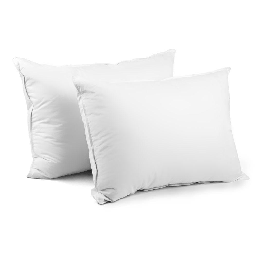 Bedding Set of 2 Duck Down Pillow - White