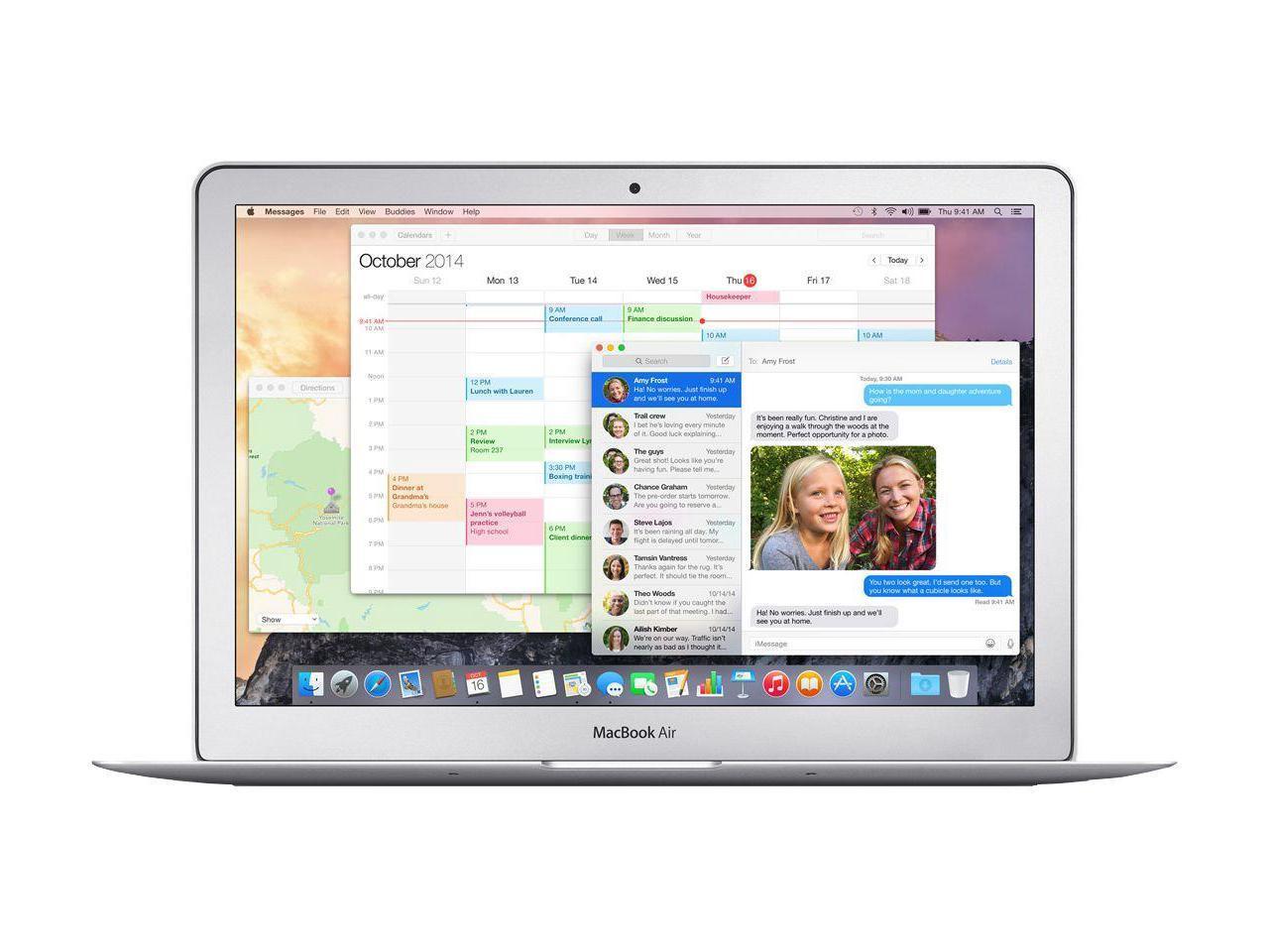 """Apple Macbook Air 13"""" - 2015 - 1.6GHz i5 - 128/256GB - 4/8GB - With Warranty - A1466 - Silver - Refurbished"""