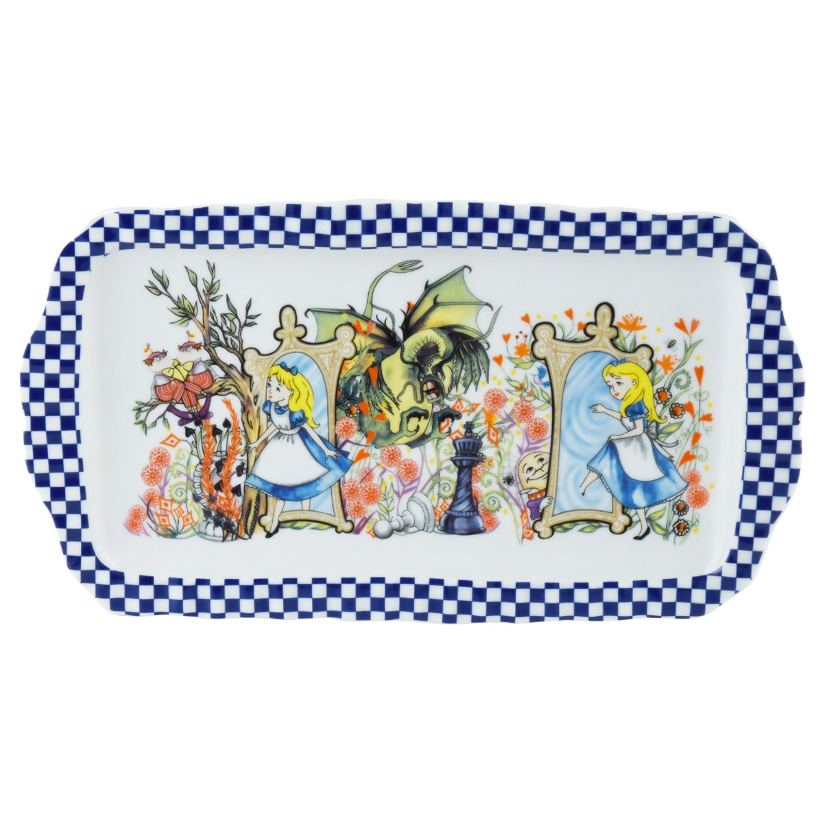 Alice Through The Looking Glass Rectangular Tray
