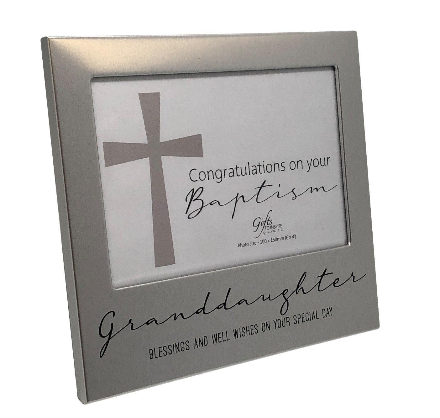 Baptism Photo Frame - Granddaughter