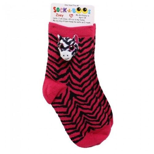 Beanie Boos Sock-A-Boos - Zoey the Zebra